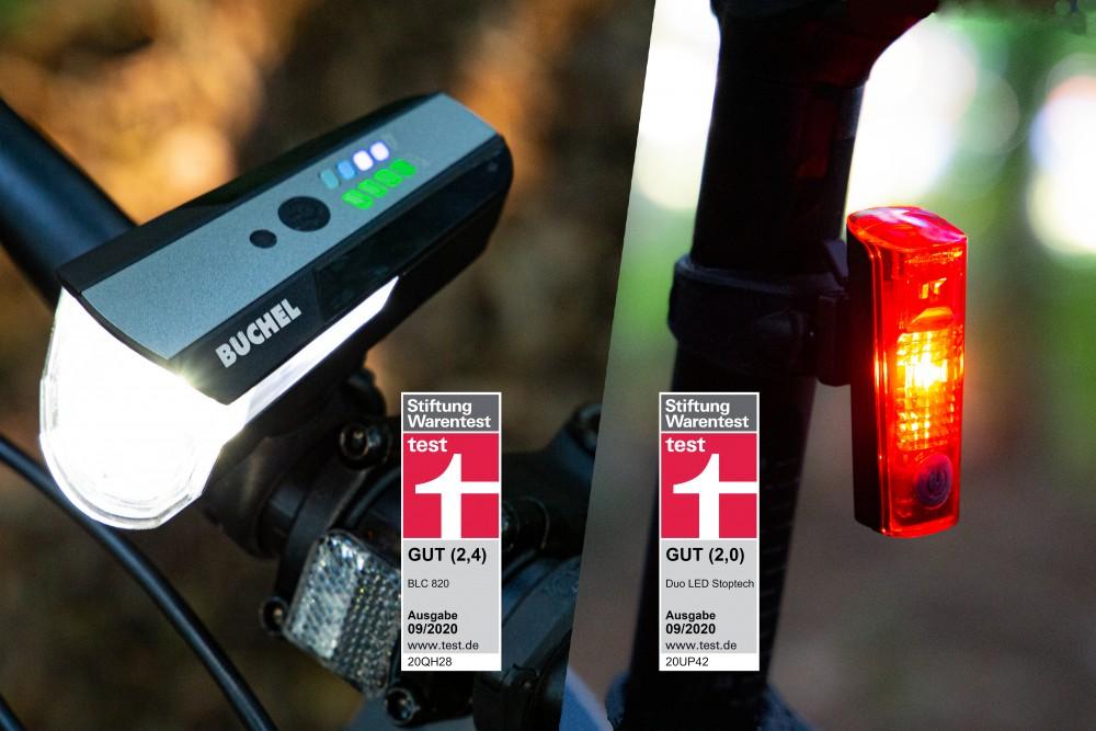 Fahrradleuchten von Stiftung Warentest für GUT befunden